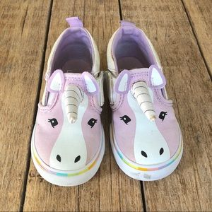 Vans Toddler Unicorn slip ons sz 6.5